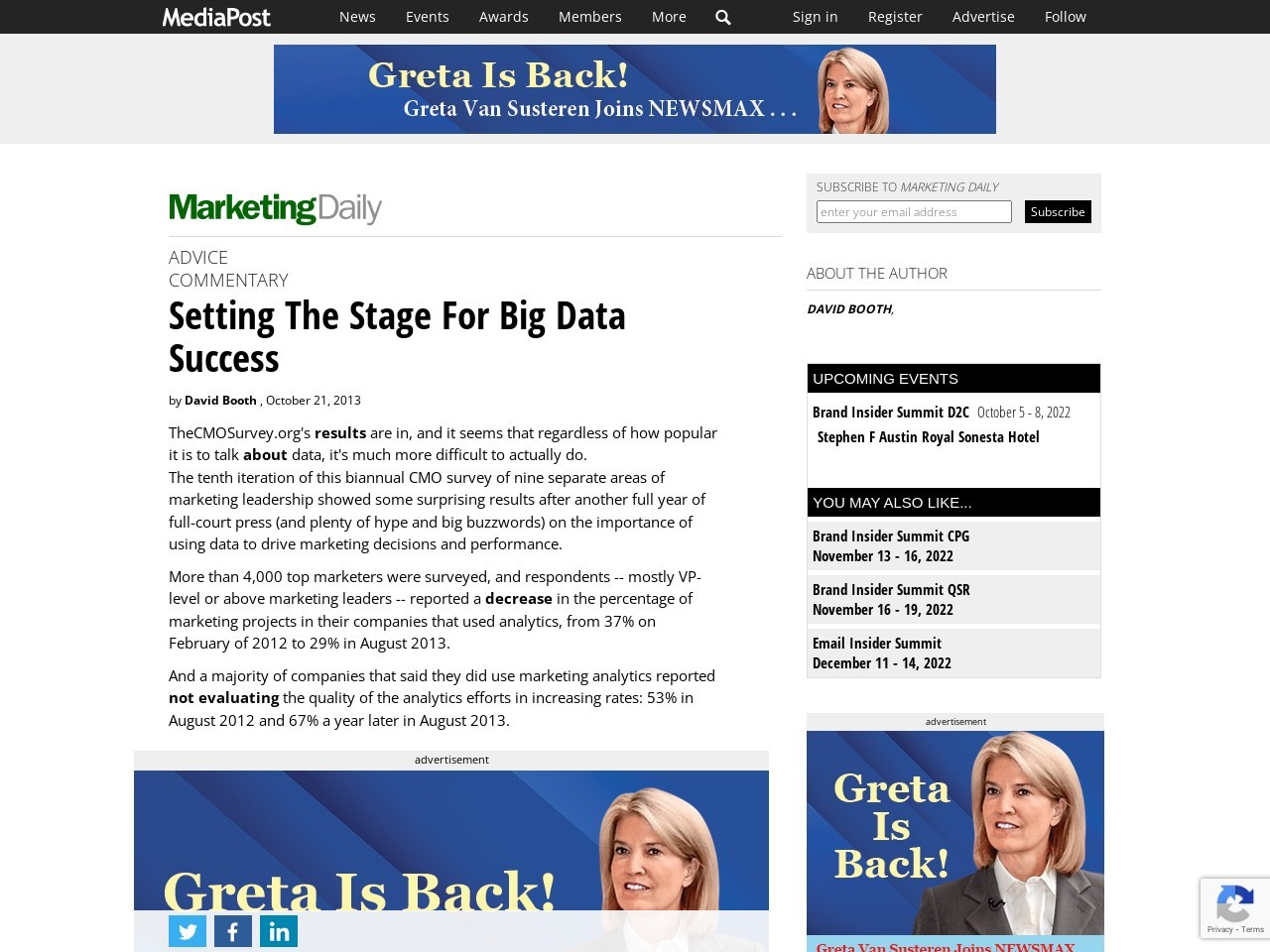 Setting The Stage For Big Data Success
