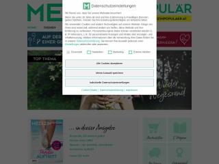 Screenshot der Website medizinpopulaer.at