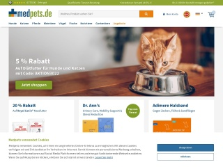 Screenshot der Website medpets.de