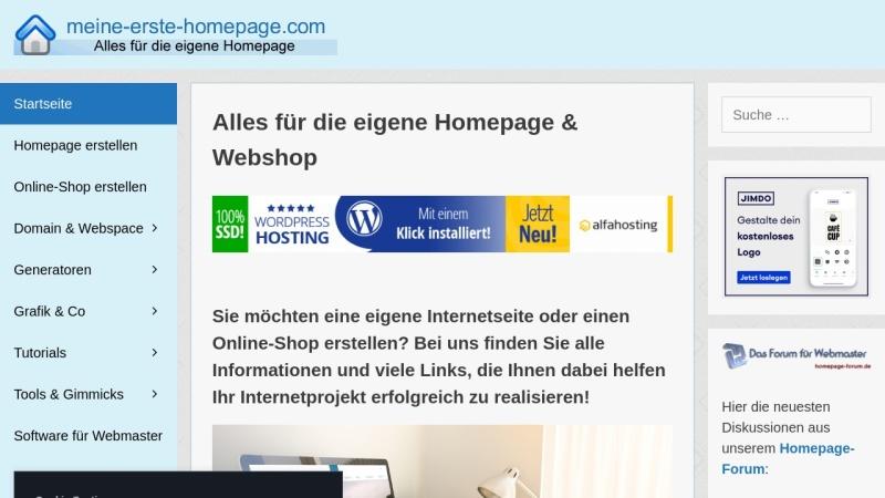 www.meine-erste-homepage.com Vorschau, Meine erste Homepage