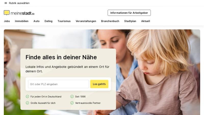 www.meinestadt.de Vorschau, Meine Stadt im Internet
