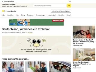 Screenshot der Website meinestadt.de