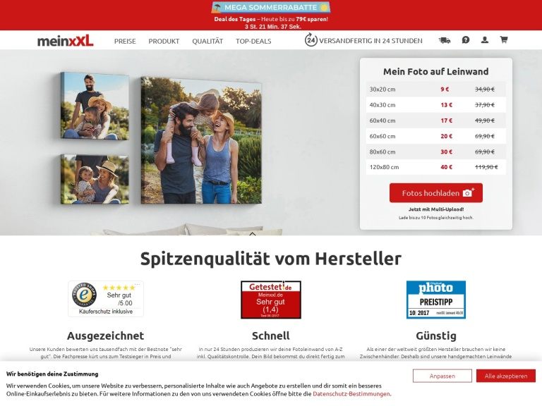 Meinxxl.de screenshot