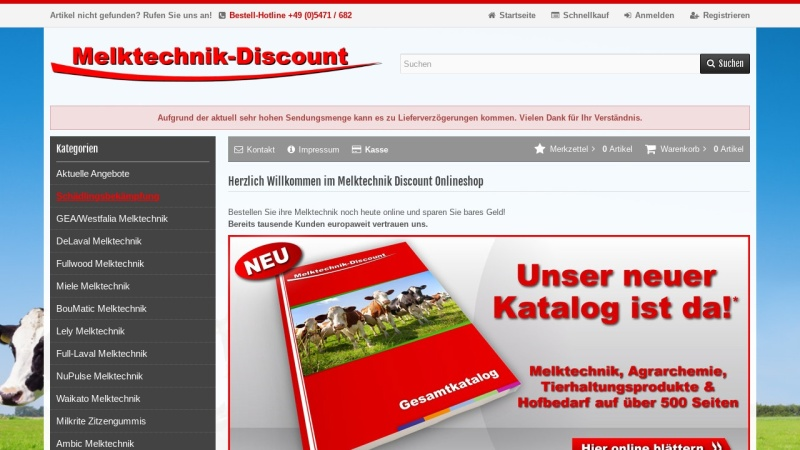 www.melktechnik-discount.com Vorschau, Melktechnik Discount, Ralf Bühning GmbH