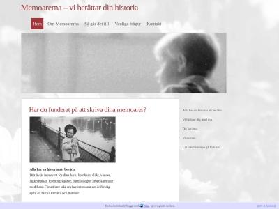 www.memoarerna.se