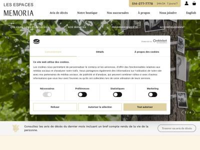 Memoria.ca : Organisation de funérailles à Montréal