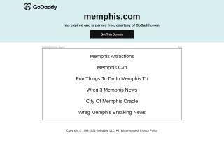 Screenshot for memphis.com