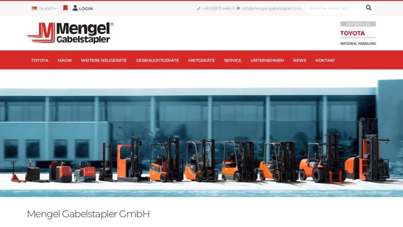 www.mengel-gabelstapler.com Vorschau, Mengel Gabelstapler GmbH