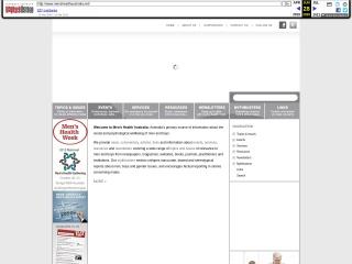 Screenshot for menshealthaustralia.net