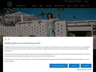 Screenshot for mercedes-benz.com