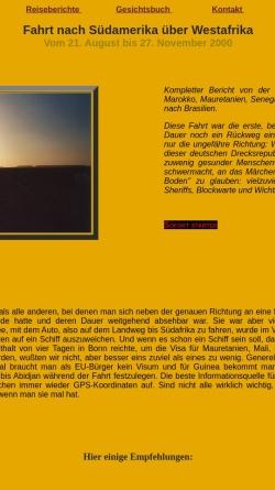 Vorschau der mobilen Webseite www.mercedes124.de, Westafrika mit dem Auto [Markus Besold]