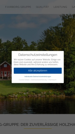 Vorschau der mobilen Webseite www.merlin-holzhaus.de, Merlin Holzhaus - merlin-holzhaus.de