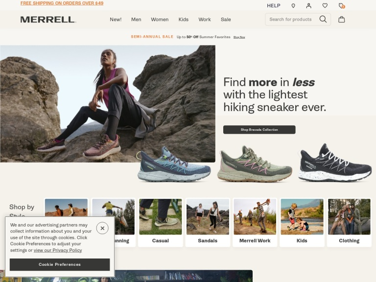Merrell screenshot