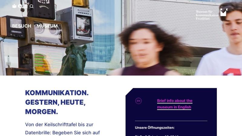 www.mfk-frankfurt.de Vorschau, Frankfurt, Museum für Kommunikation