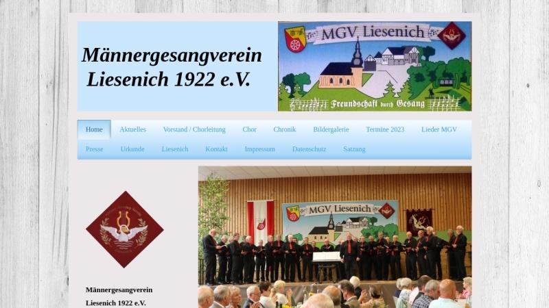 www.mgv-liesenich.de Vorschau, Männergesangverein Liesenich 1922 e.V.