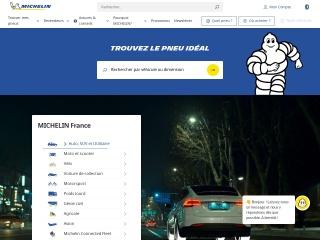 Capture d'écran pour michelin.fr