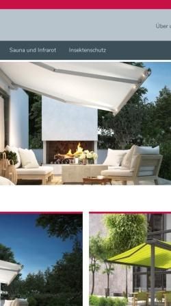 Vorschau der mobilen Webseite www.michelsgmbh.de, Michels Markisen Saunabau GmbH