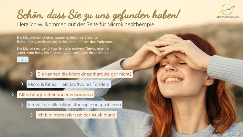www.microkinesi.de Vorschau, Microkinési-Therapie