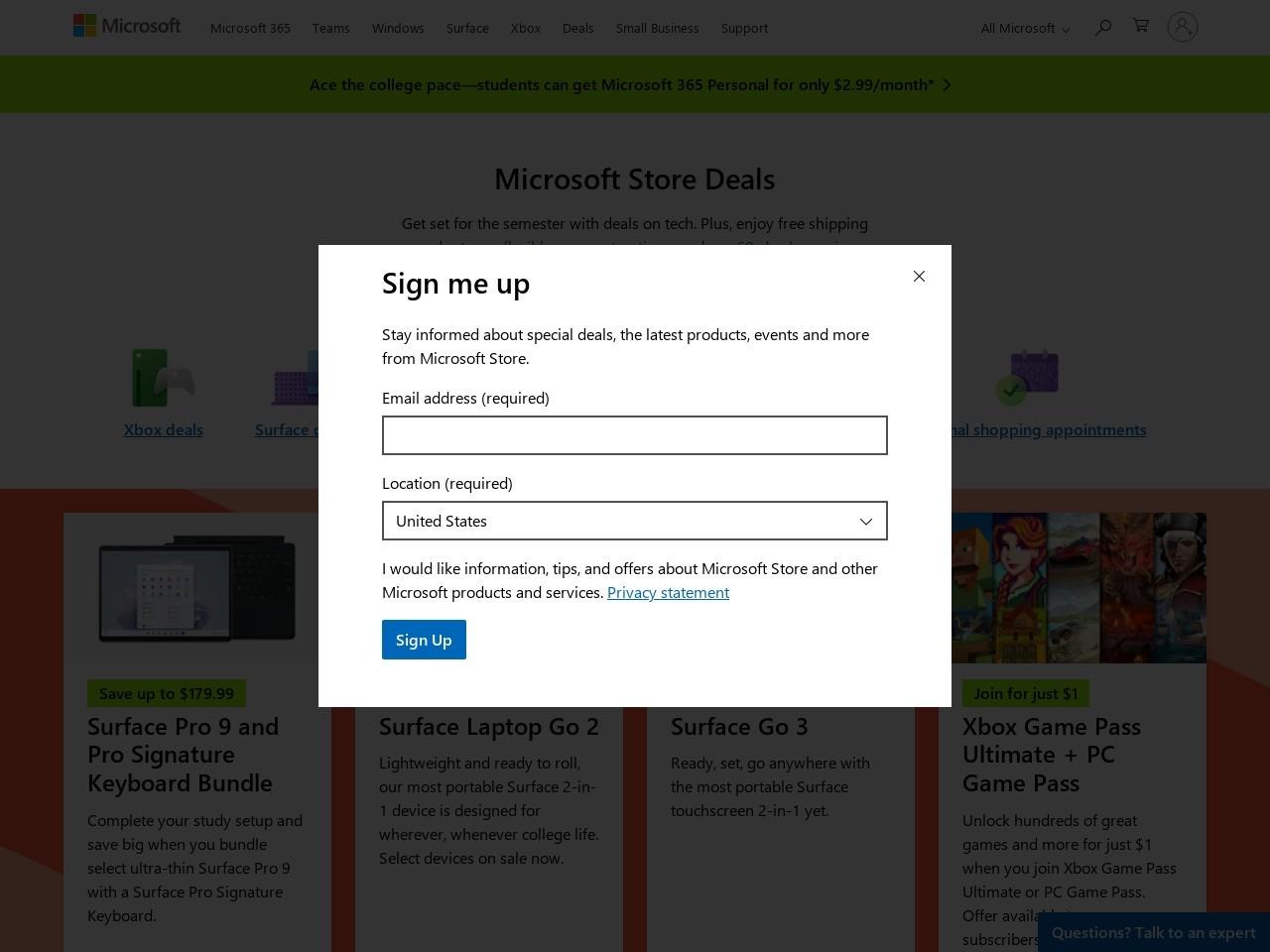 Microsoft Canada screenshot