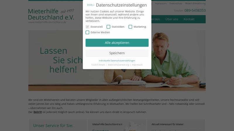 www.mieterhilfe-deutschland.de Vorschau, Mieterhilfe Deutschland e.V.