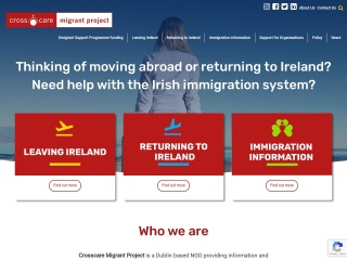 Screenshot for migrantproject.ie
