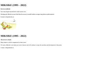 Screenshot for miksike.ee