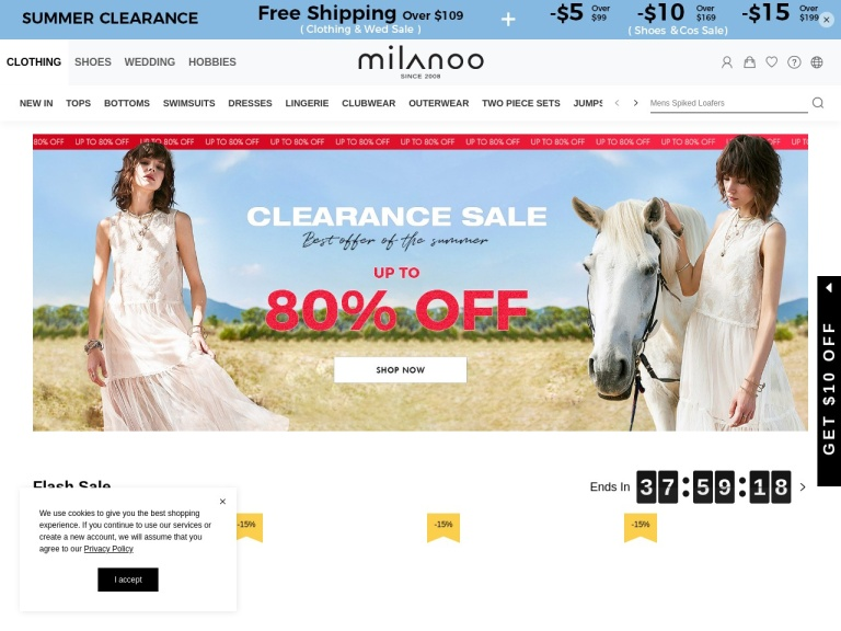 Milanoo Coupon Codes