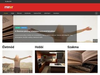 miner.hu webhely képe