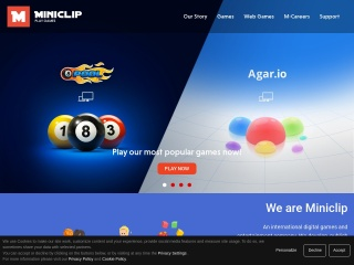 Screenshot για την ιστοσελίδα miniclip.com