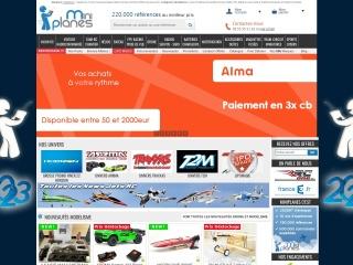 Capture d'écran pour miniplanes.fr