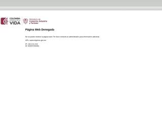 Captura de pantalla para mipymes.gov.co