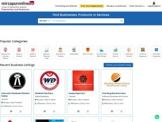 Screenshot for mirzapuronline.in