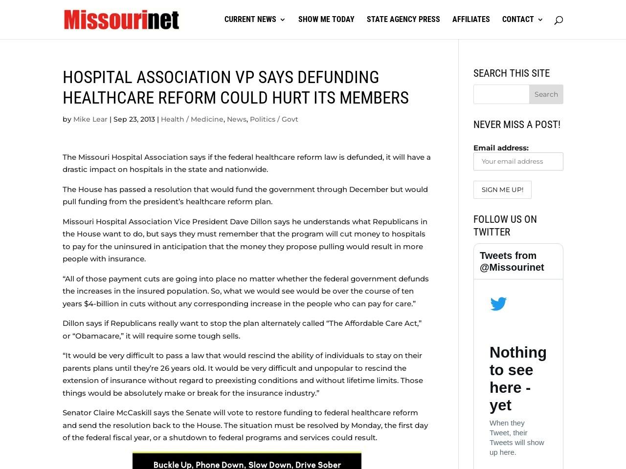 Hospital Association VP says defunding healthcare reform could …