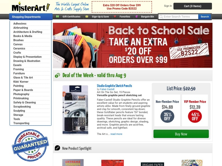 Misterart.com Coupon Codes