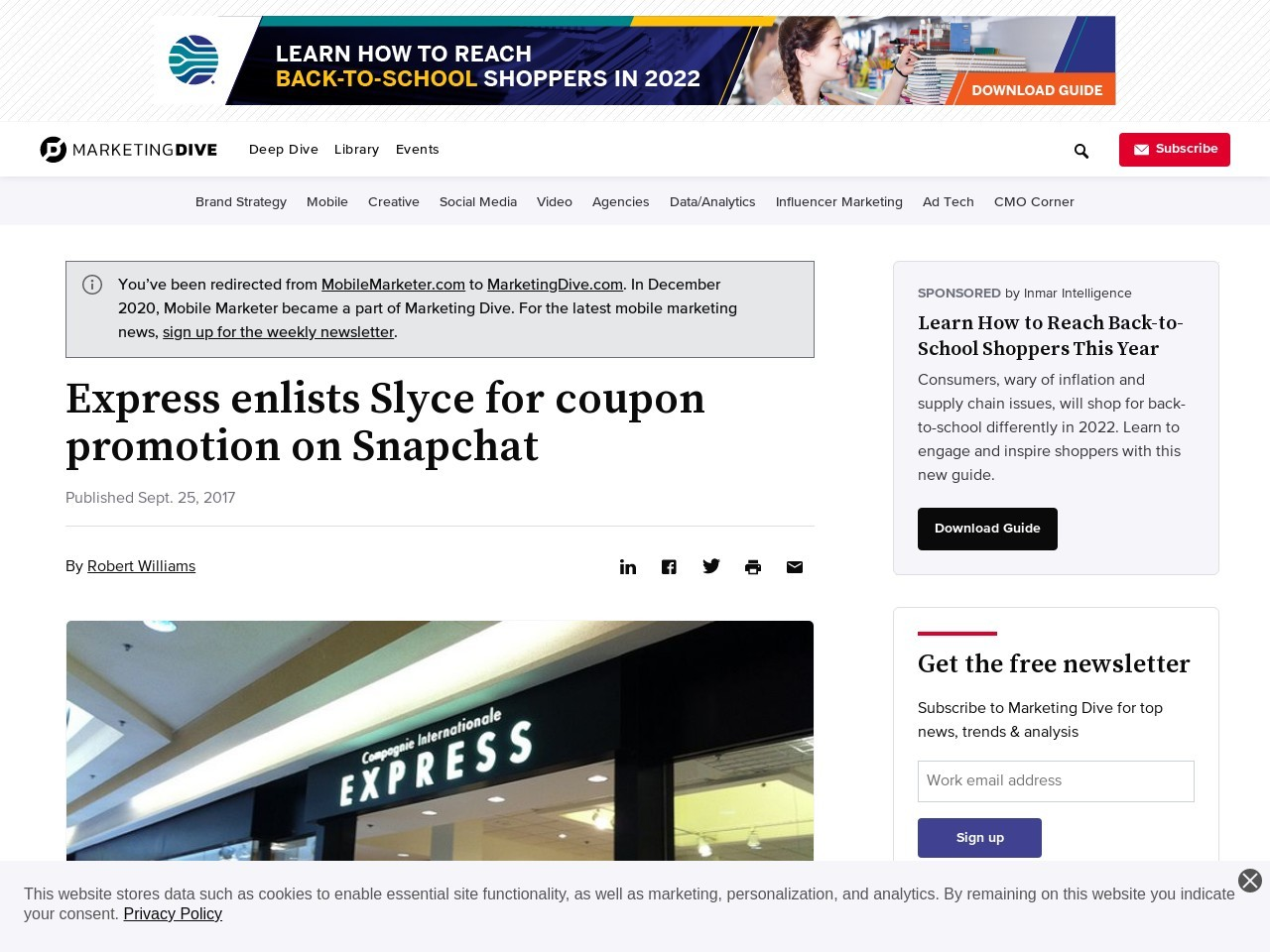 Express sees 1M activations for Snapchat coupon