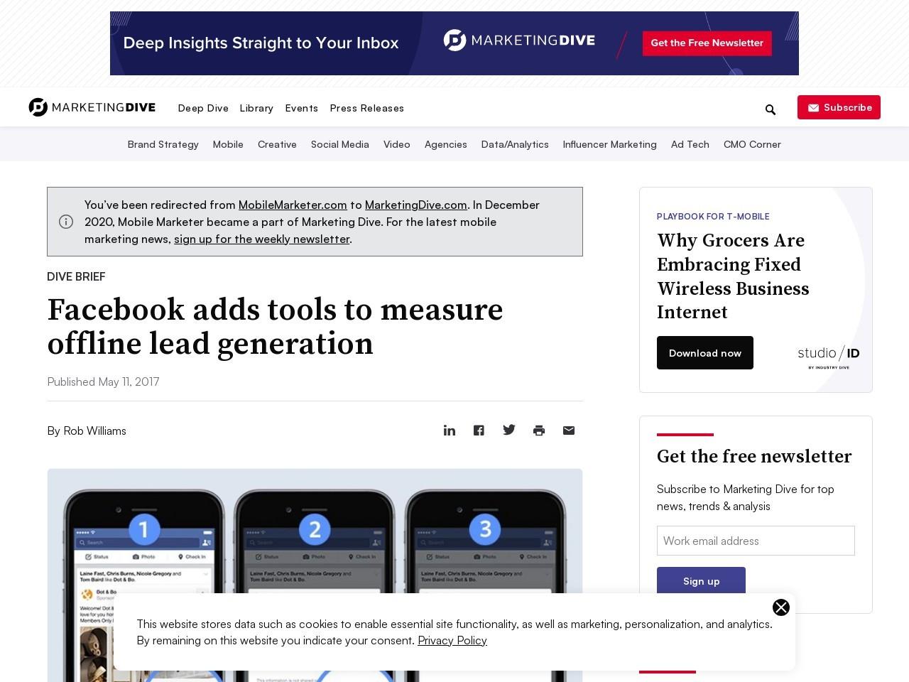 Facebook adds tools to measure offline lead generation