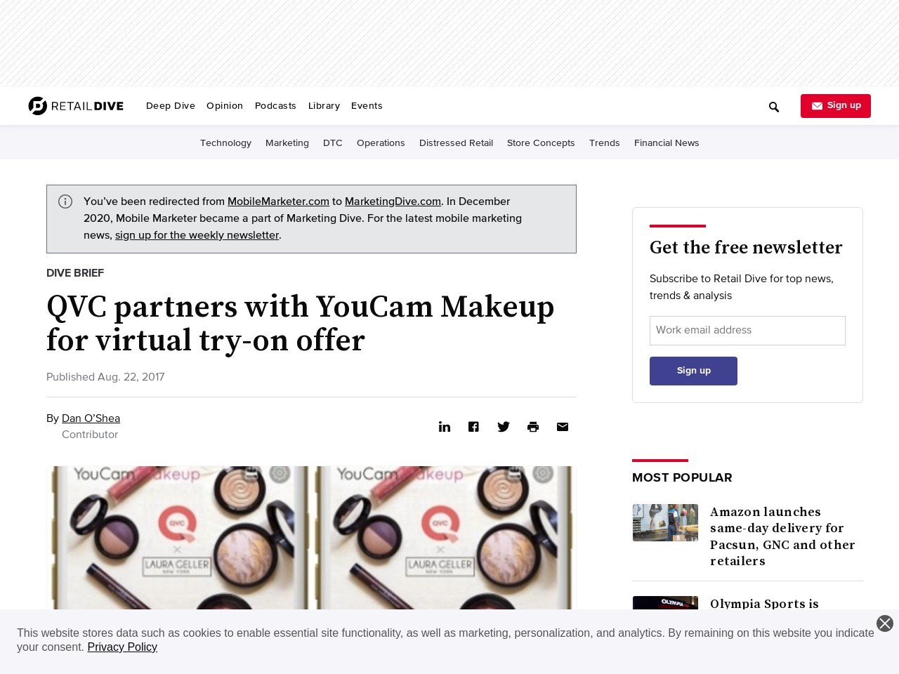 QVC partners with YouCam Makeup for virtual try-on offer