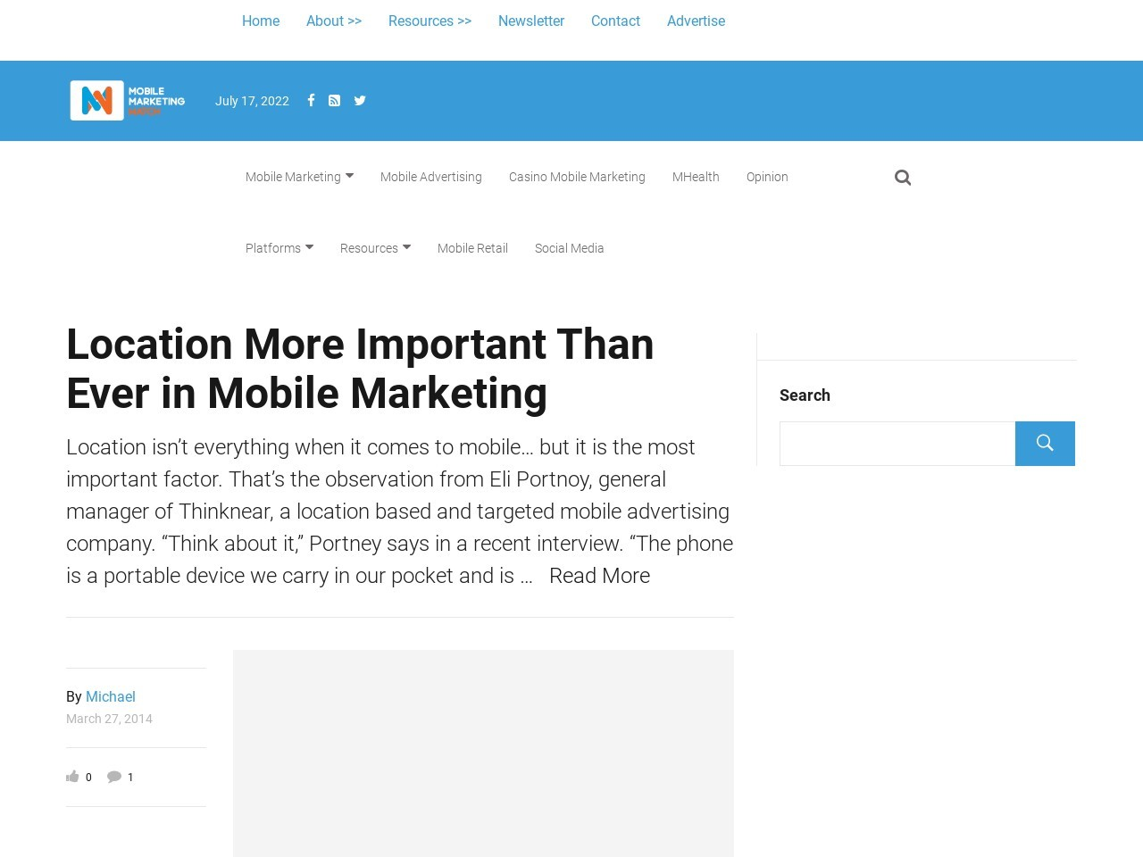 Location More Important Than Ever in Mobile Marketing