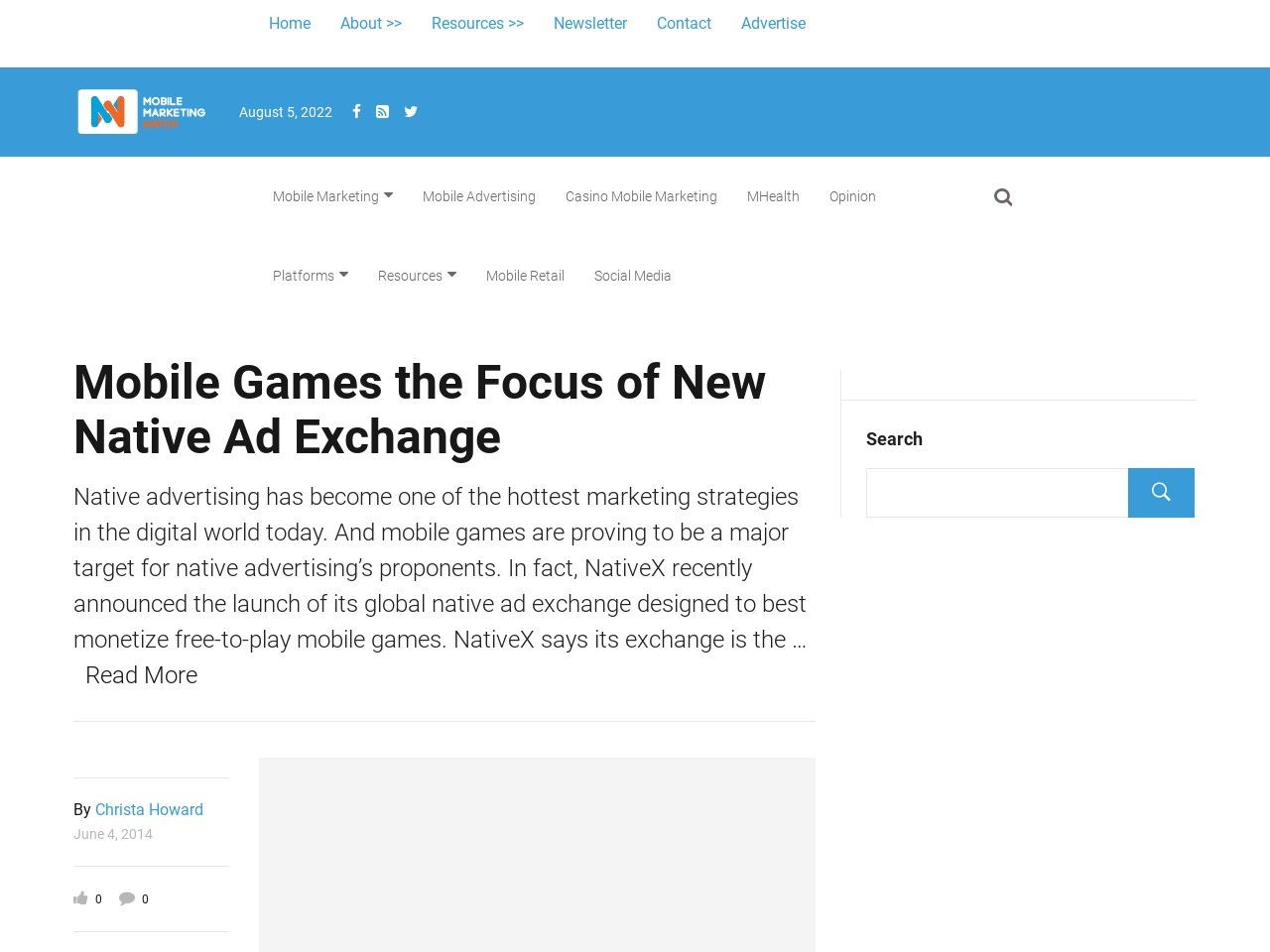 Mobile Games the Focus of New Native Ad Exchange