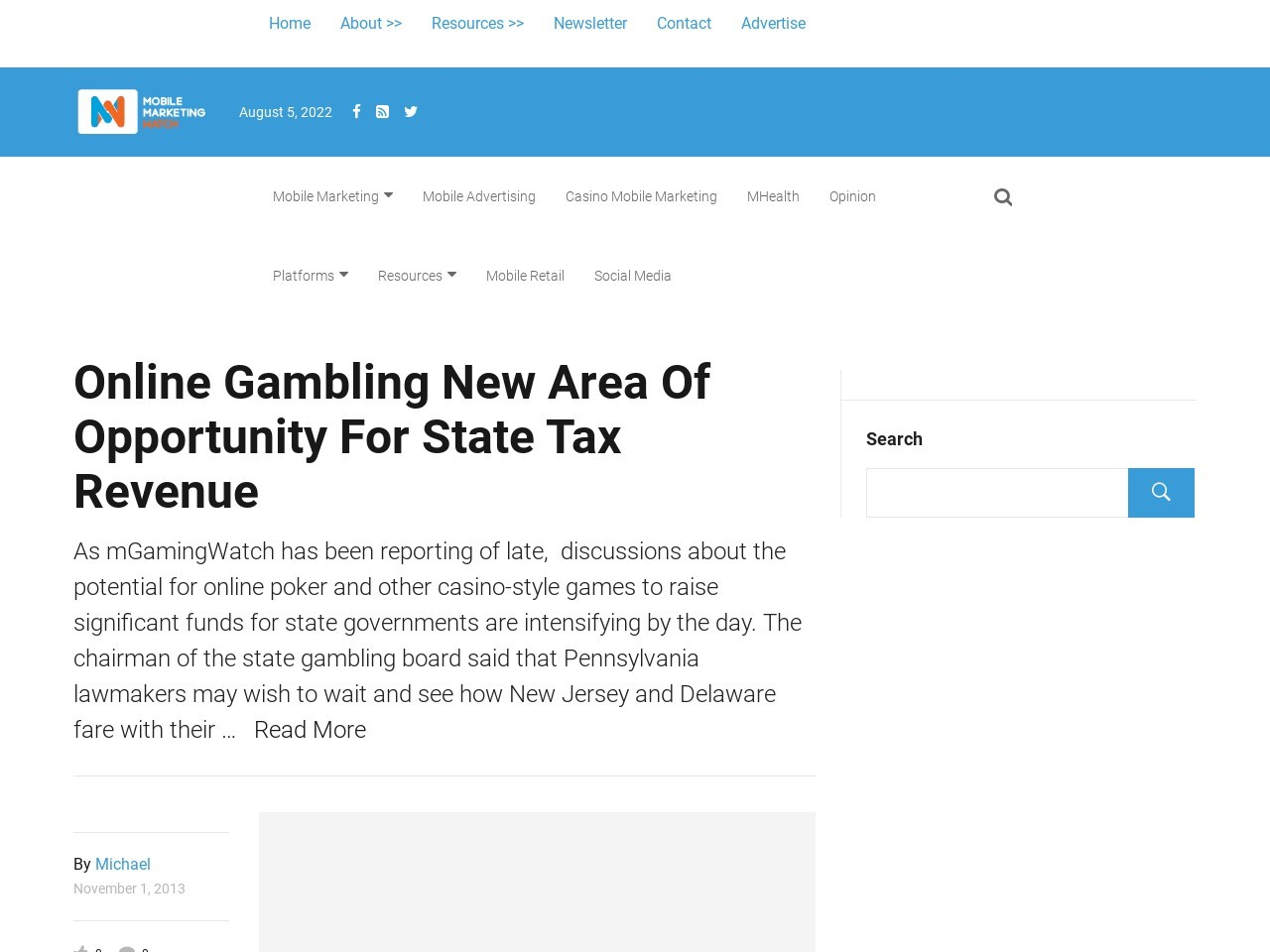 Online Gambling New Area Of Opportunity For State Tax Revenue
