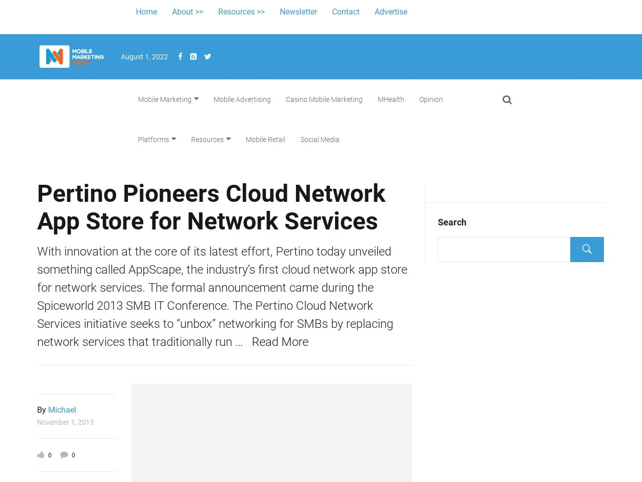 Pertino Pioneers Cloud Network App Store for Network Services