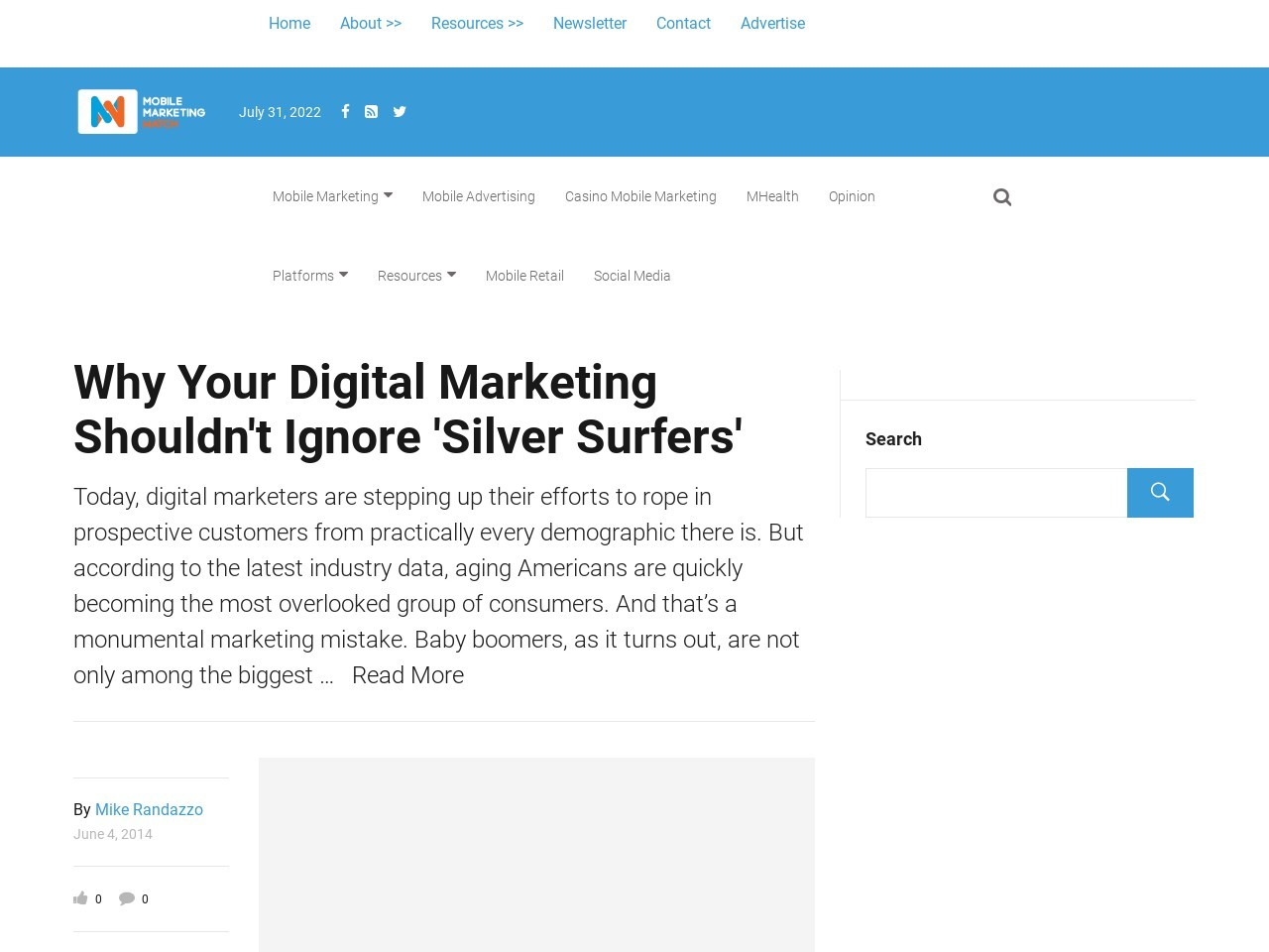 Why Your Digital Marketing Shouldn't Ignore 'Silver Surfers'