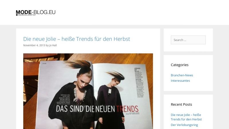 www.mode-blog.eu Vorschau, Mode-Blog.eu