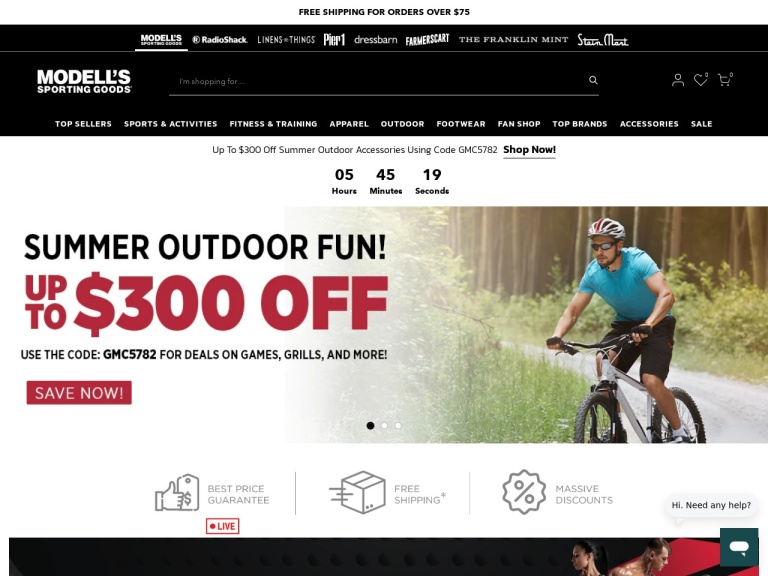 Modells Sporting Goods-Modells Sporting Goods- Free Shipping on Orders Over $80 Plus Free In-Store Returns