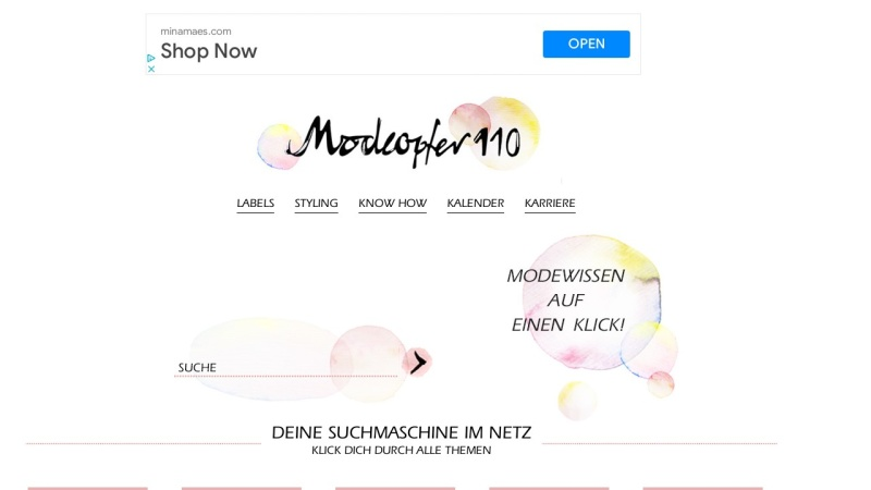 www.modeopfer110.de Vorschau, Modeopfer110.de