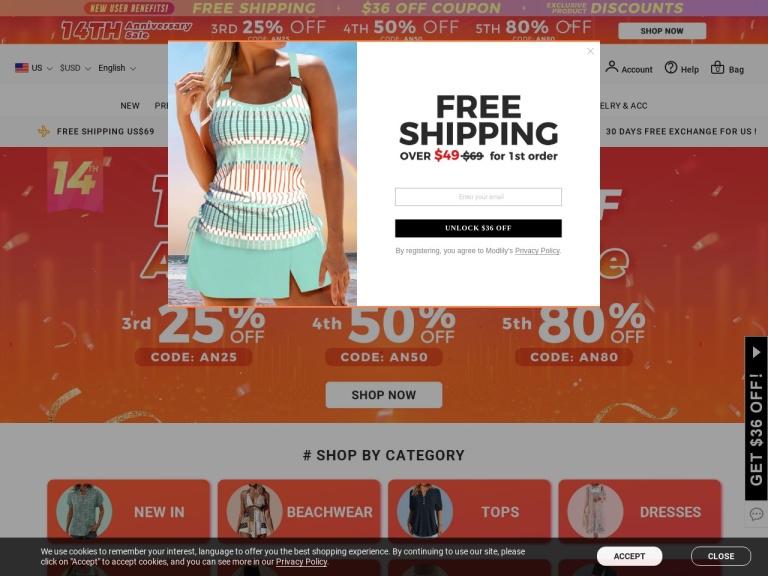 Modlily.com screenshot