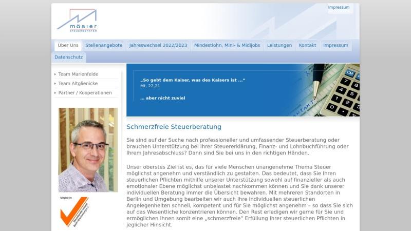 www.moessler-steuerberater.de Vorschau, Steuerberater Bernhard Mößler