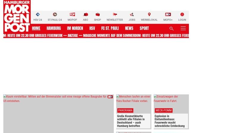www.mopo.de Vorschau, Hamburger Morgenpost