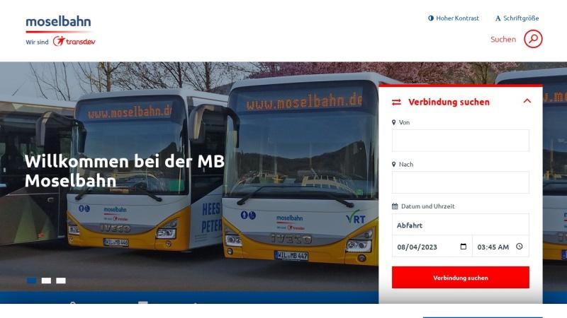 www.moselbahn.de Vorschau, Moselbahn-Gesellschaft mbH