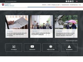 Screenshot stránky mosr.sk